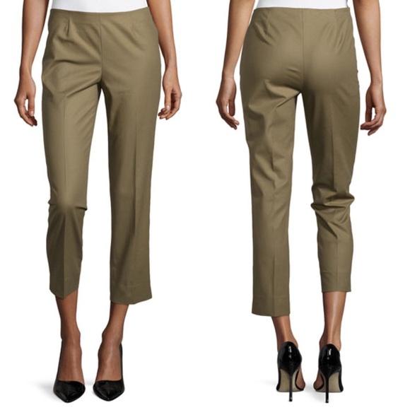 2c97c9cbd Lafayette 148 New York Pants - Lafayette 148 Green Cropped Bleecker Pants